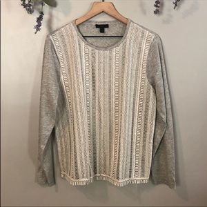 *~* J. CREW LS Casual Knit Front Top Size XL *~*
